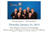 Kingdom Heirs at First Baptist Church in Dandridge, 7:00 pm – Jan 24, 2013