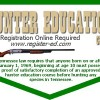 Hunter Safety Class – October 10,11,13 & 14, 2016