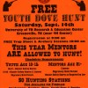 Free Youth Dove Hunt, September 14th, 2013