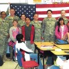 Carson Newman ROTC Cadets present Flag Program  to Lincoln Elementary 4th & 5th Graders