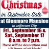 Christmas In September Sale At Glenmore Mansion, Sept 16 & 17, 2016