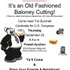 Old Fashioned Baloney Cutting – Meet Tim Burchett For US Congress, September 28, 2017