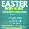 Dandridge Library Indoor Easter Egg Hunt March 31