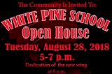 White Pine School Open House August 28