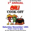 Spay Neuter Project Chili Cook-off November 10