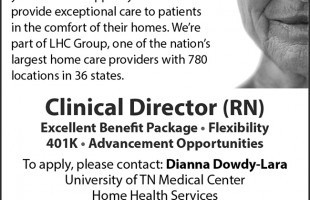 Clinical Director (RN) – UT Medical Center Home Health Services