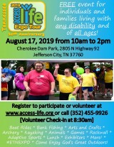 Access – Life Expo August 17 at Cherokee Dam Park