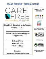 C.A.R.E. Dog Park Opening April 27