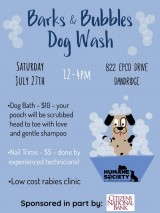 Barks & Bubbles Dog Wash July 27