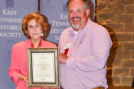 East Tennessee Historical Society Honors one Jefferson County  Initiative with Award of Excellence in History