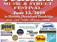 DANDRIDGE JUNE JUBILEE MUSIC & STREET FESTIVAL, SATURDAY, JUNE 15, 2019
