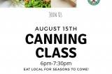 Canning Class August 15