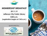Chamber of Commerce Membership Breakfast September 11