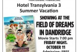 Movie Night at the Field of Dreams October 11
