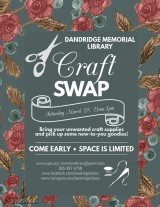 Dandridge Memorial Library Hosts Craft Swap, March 28, 2020