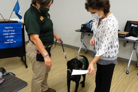 Smoky Mountain Service Dogs at MDW NSDAR Meeting