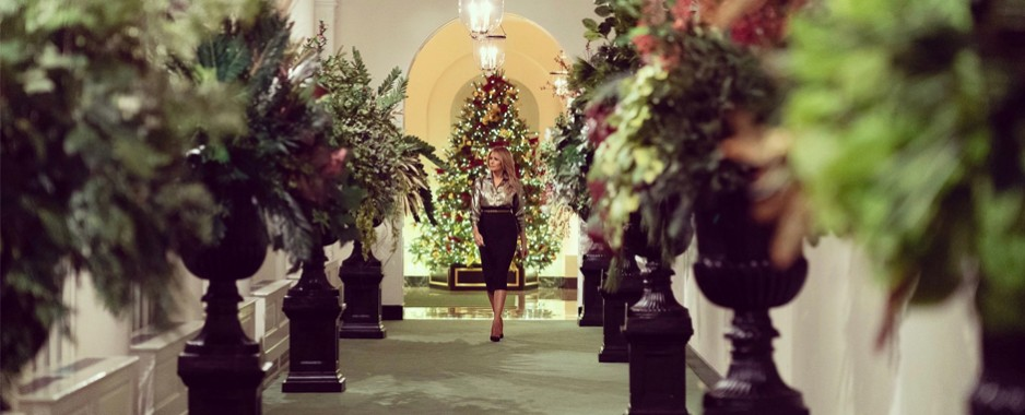 First Lady Melania Trump Unveils the 2020 White House Christmas Décor