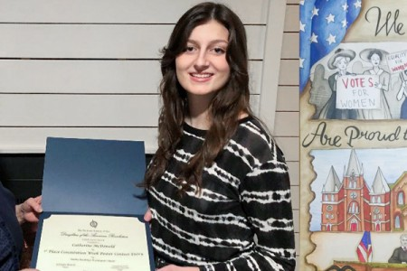 Catherine McDonald Wins First Place Of Constitution Week Poster Contest