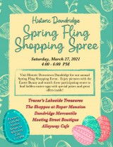 Dandridge Spring Fling Shopping Spree, March 27, 2021