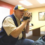 Photo by Robin Archer, Jefferson County Post Staff Writer / Richard Walker, Eye Screening Chairman Dandridge Lions Club