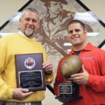 Photographer, Jeff Depew – Principal Scott Walker, Head Football Coach Kenny Cobble