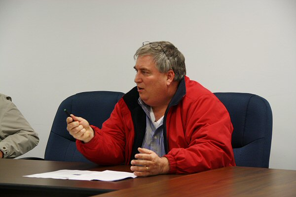 Commissioner Terry Reneau at Wednesday night's meeting - Staff Photo by Jeff Depew