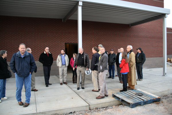 Monday night's Facilities Committee Meeting included a tour of the New Patriot Academy currently under construction - Staff Photo by Jeff Depew