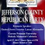 GOP Lincoln Reagan Dinner 2013