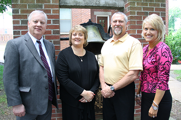 L/R - Director of Jefferson County Schools, Dr. Charles Edmonds, Patriot Academy Building Administrator, Tami Morlock, Jefferson County High School Principal, Dr. Scott Walker, and Director of Secondary Education, Ruth Pohlman - Staff Photo by Jeff Depew