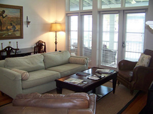 The Cottages at Patriot's Point provide a homey atmosphere on the waterfront.