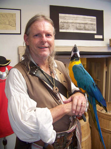 Eric Lavender has been featured on the Travel Channel for his Pirate Tours.