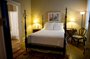 Inside the Old Post Bed and Breakfast. A cozy getaway for the bed and breakfast travelers.