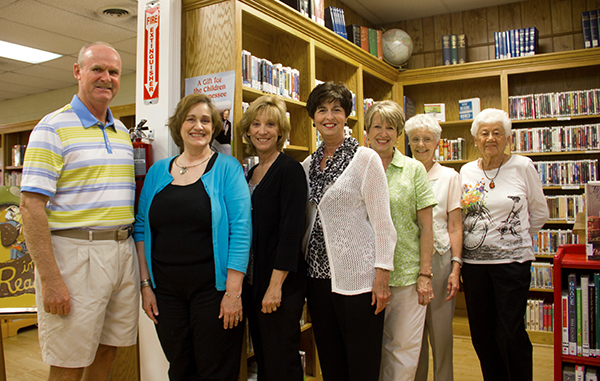 L/R - Board Member Doug Reffit, Glenda Jones, Tammy Smith, Betty Jo Moore, Carlyon Surrett, Shirlee Washam, Shirley Irwin - Staff Photo by Robin McMahon