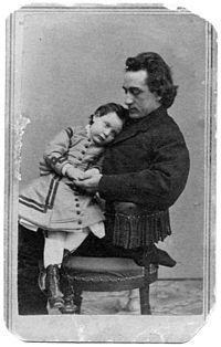 Edwin Booth pictured with his daughter Edwina