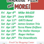 Dandridge Pizza and More Entertainment April 2014