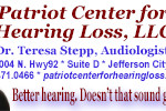 Patriot Center for Hearing Loss Ad 06092014