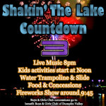 Shakin The Lake Fireworks Countdown 1 2014