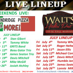 Live Lineup July 2014