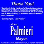 Alan Palmieri Thank You Mayor General 08092014 450