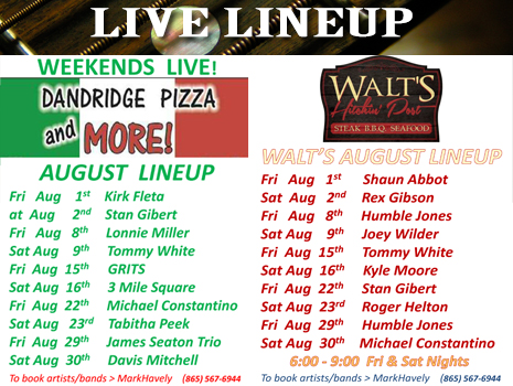 Live Lineup August 2014