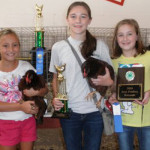 4H Chick Chain Winners for 2014 from left. Grand Champion Pen: Hannah  Allen, Catons Chapel; Reserve Champion Pen: Hailey Carmichael, Sevier County  High School and Best set of Poultry Records: Shelby Carmichael, Sevierville  Intermediate.