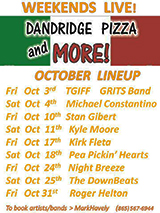Pizza and more music lineup ad 160