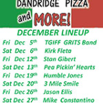 Dandridge Pizza Music Lineup December 2014