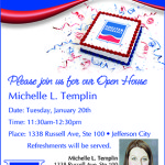 Michelle Templin Open House Ad