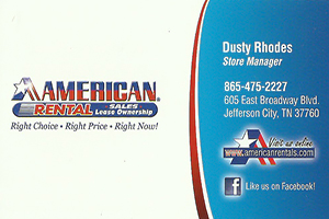 American Rental Old Time Saturday Ad 2014