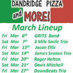 Dandridge Pizza and More March Music Lineup 2015
