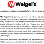 Weigles Hiring Day Ad 04042015
