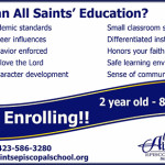 All Saints Episcopal School Ad 071515