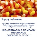 Candy Corn Auto-Owners Halloween Ad