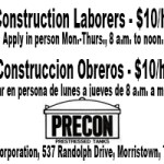 Precon Construction Help Wanted 1